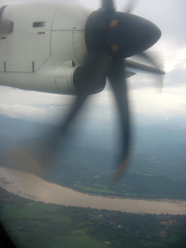 Flying over Luang Prabang