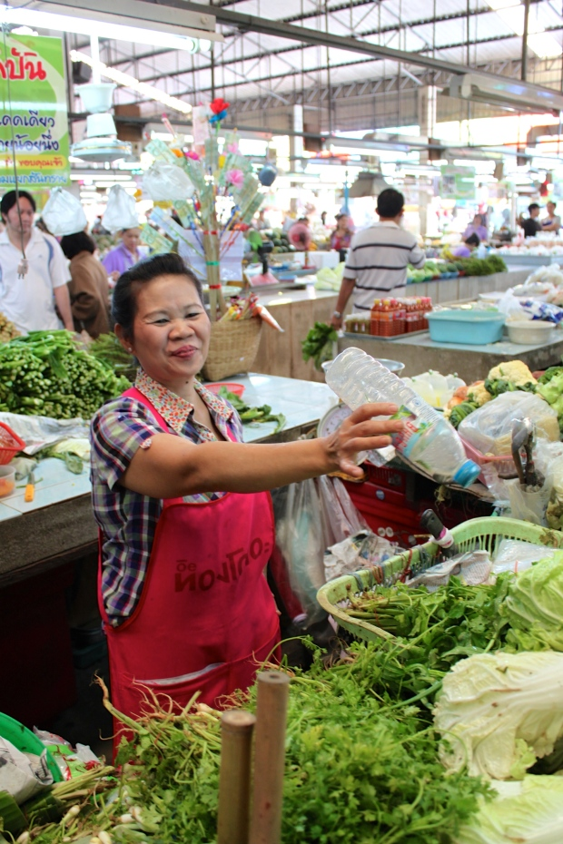Vegetable lady at the market
