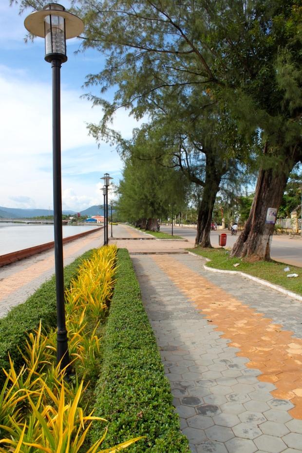 Kampot's coastal road
