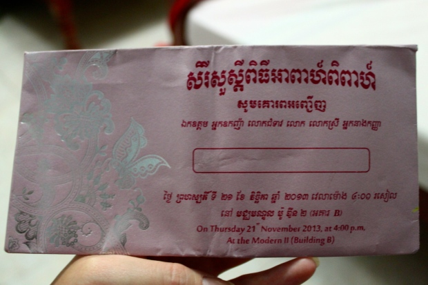 Wedding invite from Vuthy