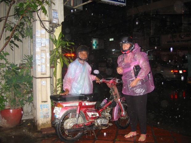Me and Vuthy in our monsoon outfits