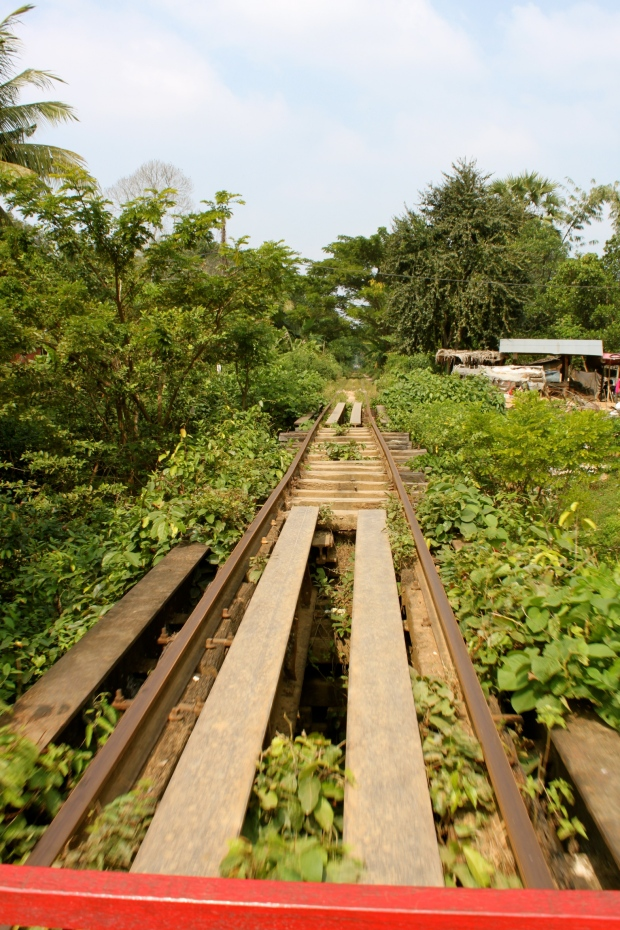 Bamboo train tracks in Battambang