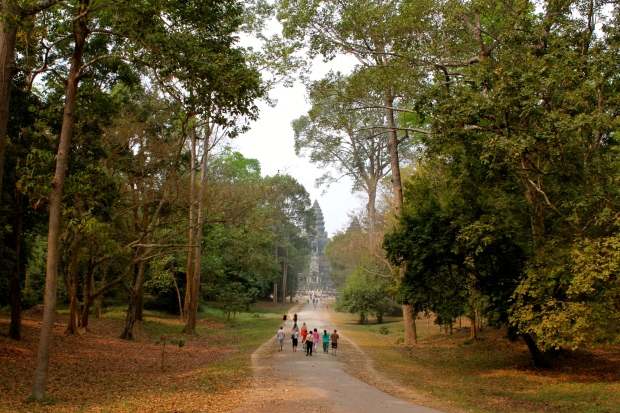 Walking towards Angkor Wat