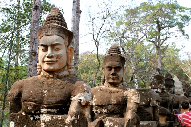Angkor Thom east gate bridge
