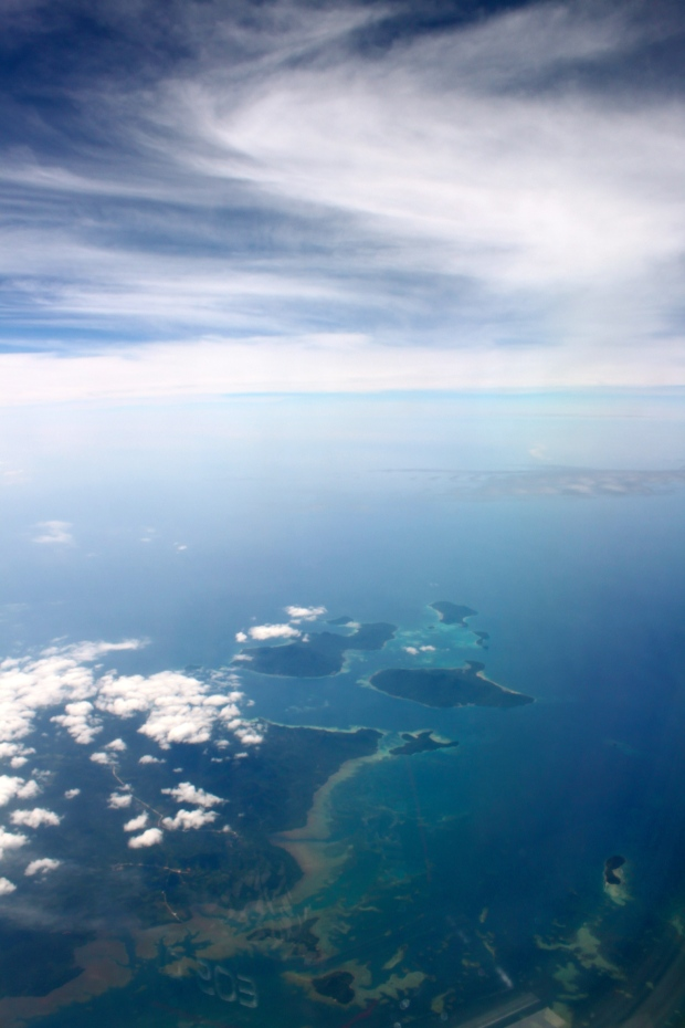 View of Borneo from the plane