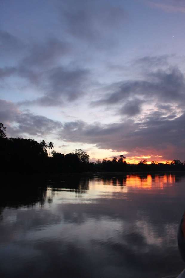 Sunrise over the Kinabatangan River