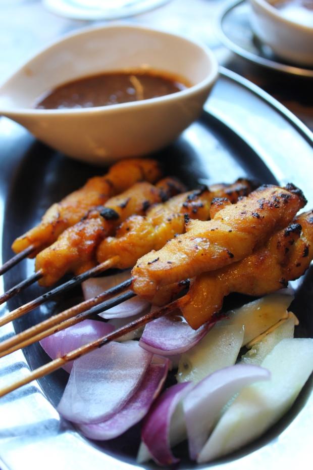 Eat satay in Malaysia