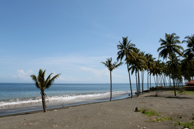 Black sand beaches in northern Lombok