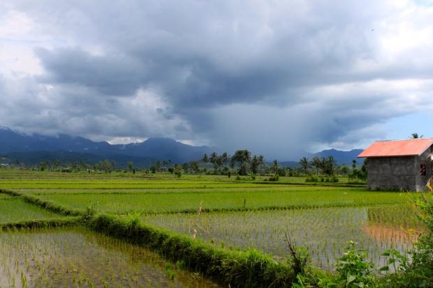 Rain rolling in, in Lombok