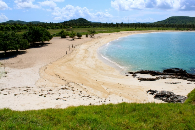Tanjung Aan beach - the yellow sand side