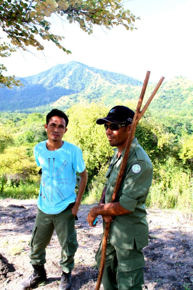 Komodo Island rangers, armed