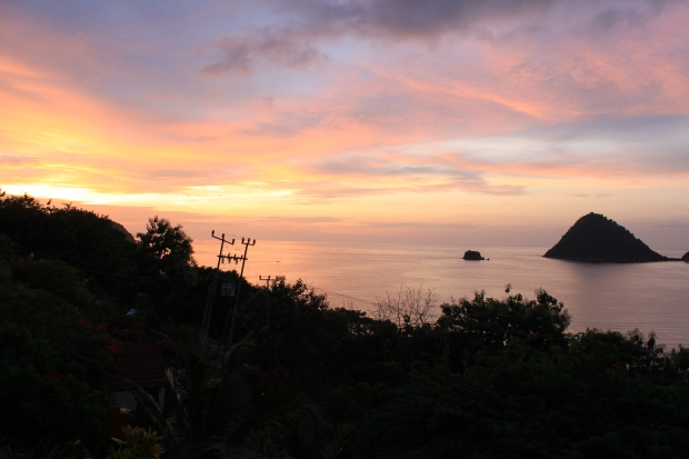 Sunset over Labuanbajo in Flores