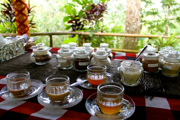 Tea and coffee tasting in Bali
