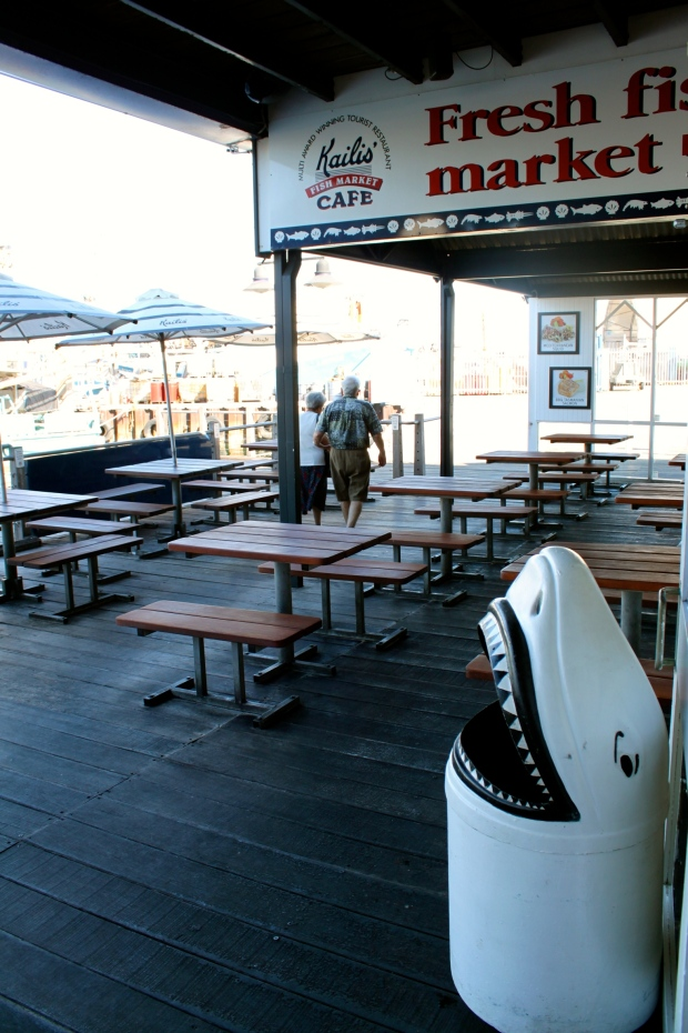 Fish and chips shop down by the harbour in Fremantle
