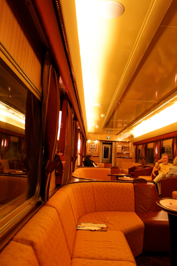 The gold service lounge on The Ghan