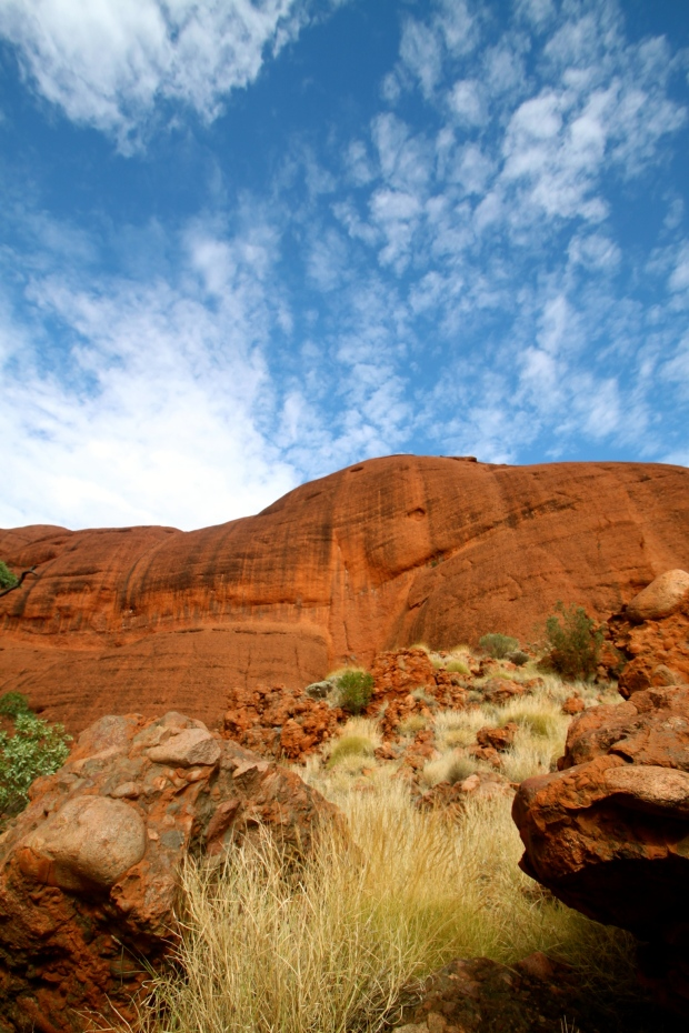 Walking through Kata Tjuta