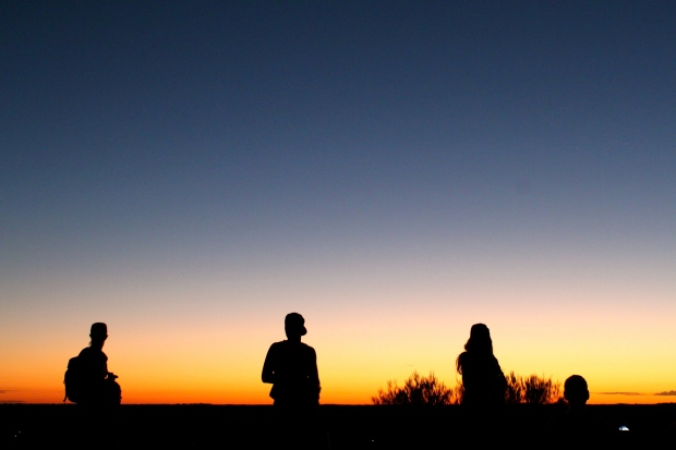 Waiting for sunrise at Uluru