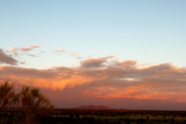 Sunrise over the Olgas or Kata Tjuta