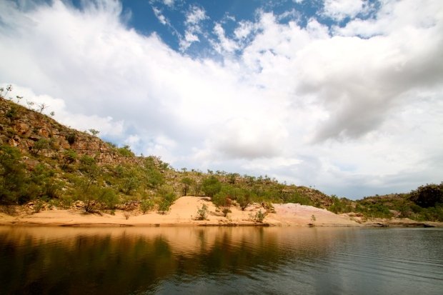 Crocodile nesting beaches along Katherine Gorge