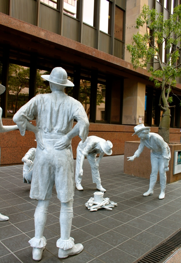 'The Drovers' street art in Brisbane