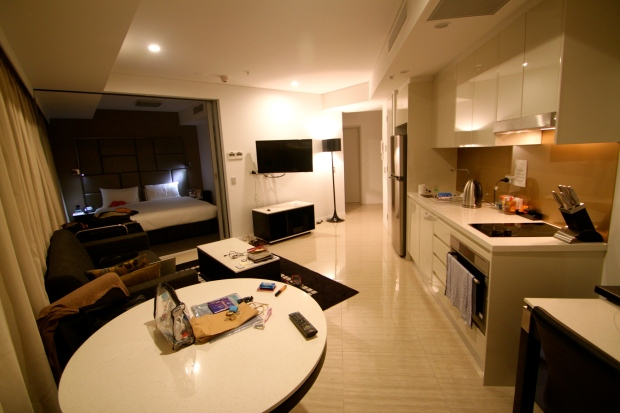 My serviced apartment in Brisbane's CBD - £50 per night :)