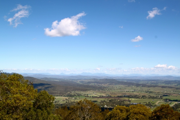 View from the rim of the inactive Tweed Shield volcano, Springbrook National Park