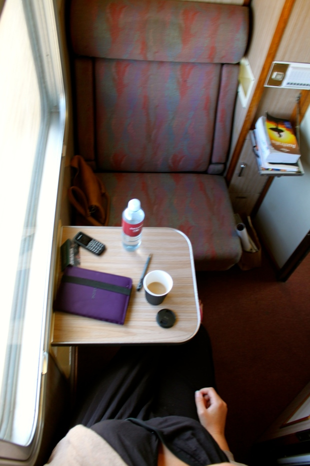 Inside my cabin on The Ghan