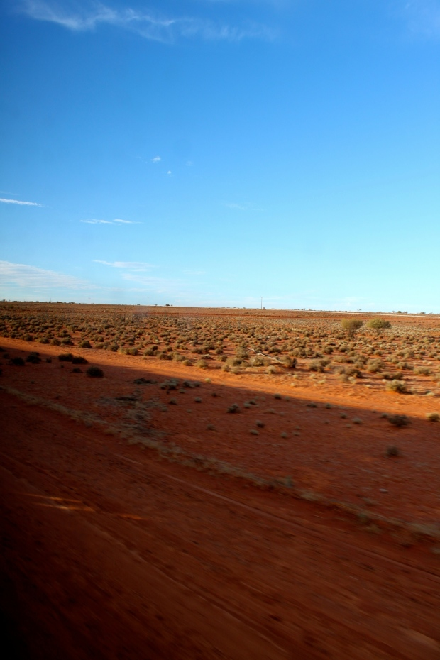 Scenery of central Australia from The Ghan