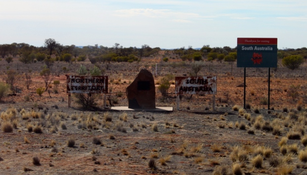 The state line, South Australia and the Northern Territory