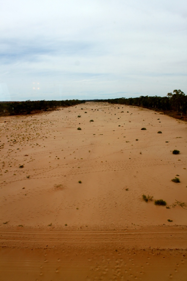 The dry Finke River