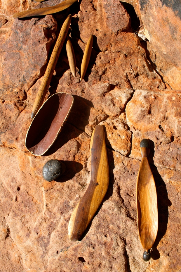 Some traditional Aborigine tools and instruments