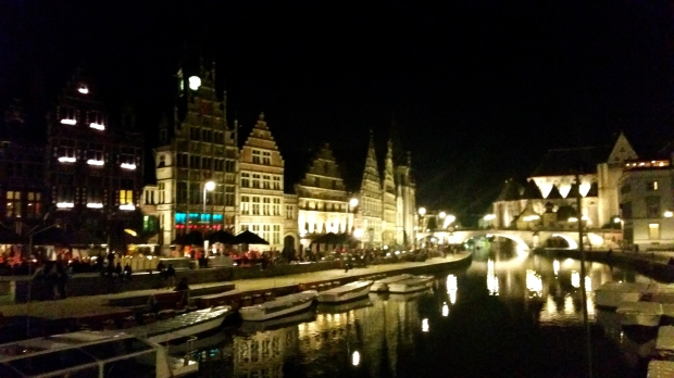 Ghent by night - bit blurry after a few cocktails!