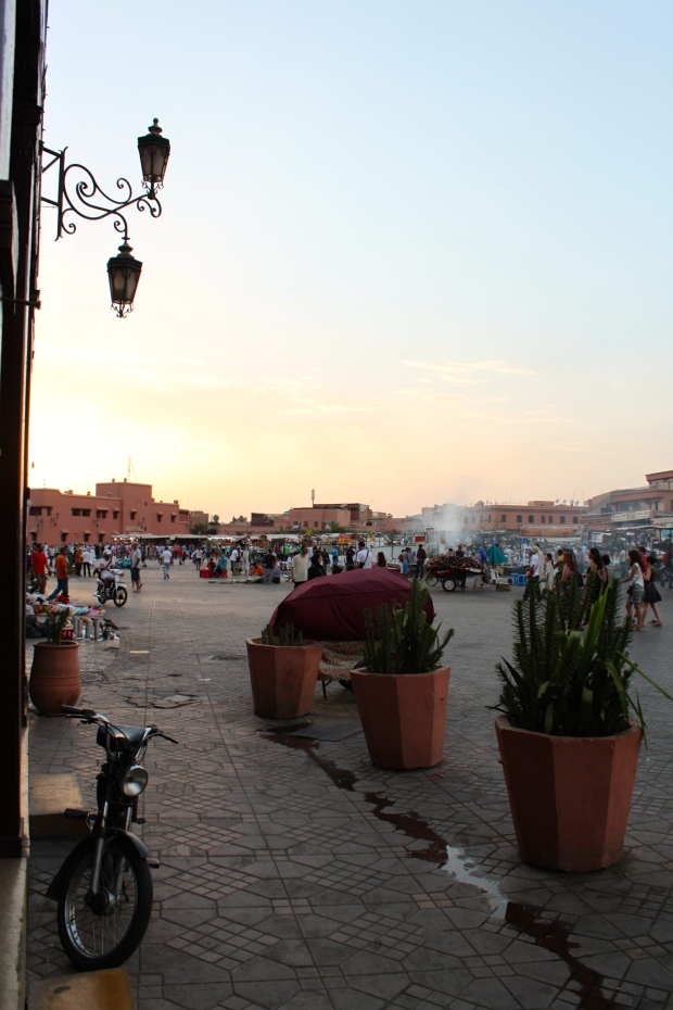 View from the Grand Cafe, in Djemaa el-Fna
