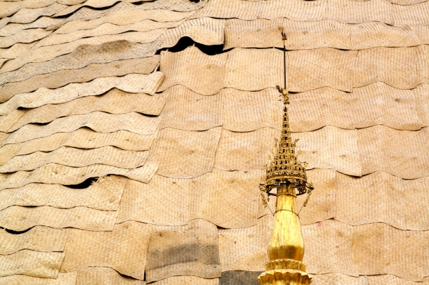 Re-laying the gold leaf on Shwedagon Pagoda