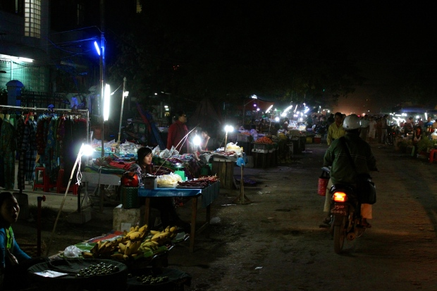 Night market in Mandalay