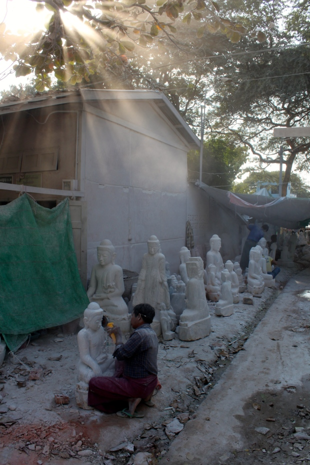 Carving marble in Mandalay