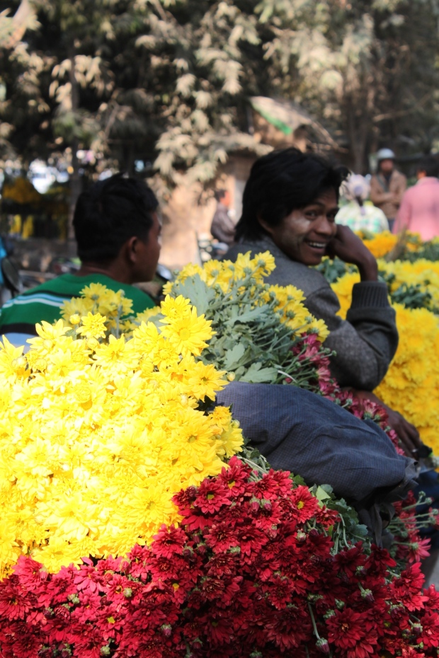 Flower market in Mandalay