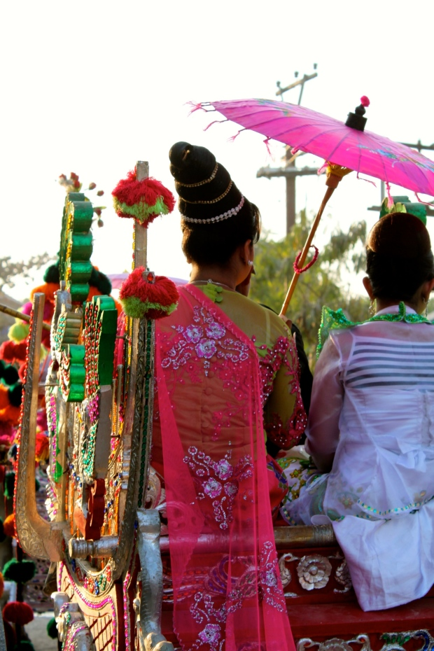 At a novice initiation ceremony outside Mandalay