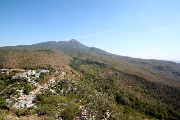View from the top of Mount Popa