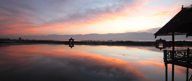 Sunrise over Inle Lake