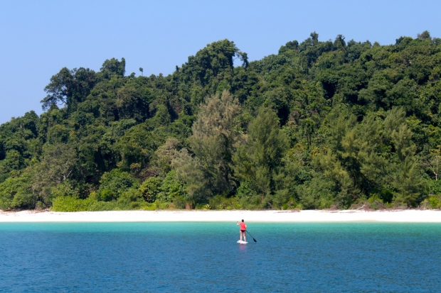 Paddle boarding to Myauk Ni Island
