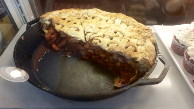 Biggest apple pie I have ever seen, at Dollywood