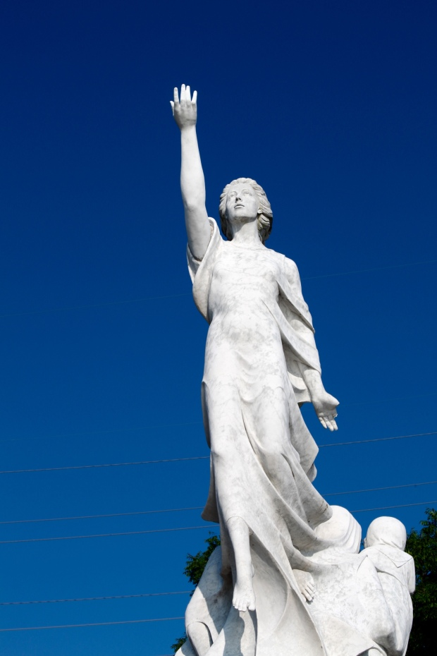 Statue of the Immigrant, riverside in New Orleans