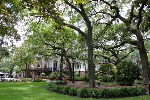 Monterey Square, where Midnight in the Garden of Good and Evil was filmed in Savannah