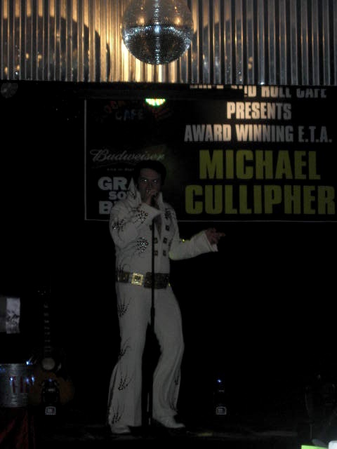 Elvis impersonator in Memphis