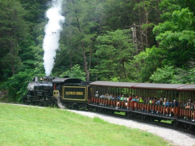 Steam train at Dollywood